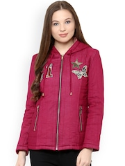 The Vanca Pink Quilted Hooded Jacket