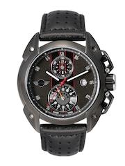 MINI Men Gunmetal-Toned Chronograph Dial Watch MINI16