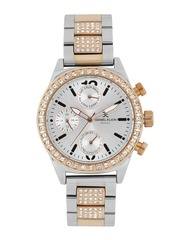 Daniel Klein Exclusive Women Silver-Toned Multifunctional Analogue Watch DK10706-5