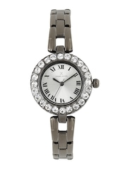 Daniel Klein Women Silver-Toned Embellished Analogue Watch DK10882-4