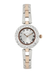 Daniel Klein Women Silver-Toned Embellished Analogue Watch DK10882-6