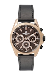 Daniel Klein Exclusive Men Dark Brown Multifunction Dial Watch DK11024-1