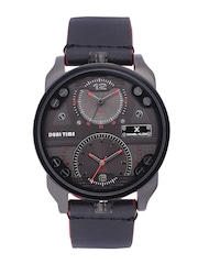 Daniel Klein Premium Men Gunmetal-Toned Dual-Time Dial Watch DK11125-3
