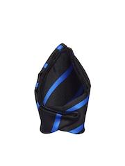 Tossido Black & Blue Striped Pocket Square