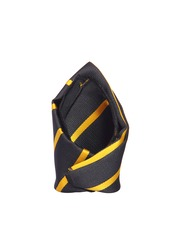 Tossido Black & Yellow Striped Pocket Square