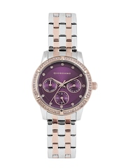 GIORDANO Women Purple Multifunction Analogue Watch 2768-66