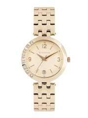 GIORDANO Women Rose Gold-Toned Textured Analogue Watch 2775-22