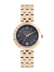 GIORDANO Women Navy Textured Analogue Watch 2775-33