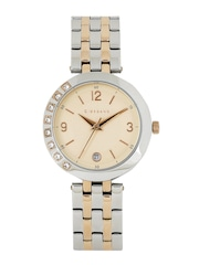 GIORDANO Women Rose-Gold Toned Textured Analogue Watch 2775-55