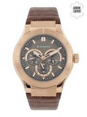 GIORDANO Men Taupe Multifunction Analogue Watch 1776-04