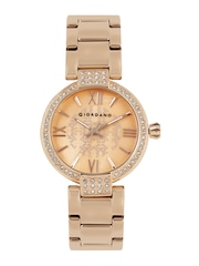 GIORDANO Women Rose Gold-Toned Analogue Watch 2777-33