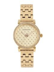GIORDANO Women Rose Gold-Toned Embellished Analogue Watch 2778-33