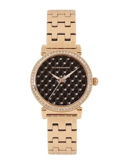 GIORDANO Women Coffee Brown Embellished Analogue Watch 2778-55