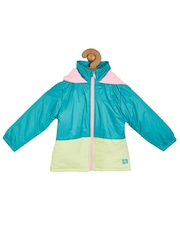 Cherry Crumble Boys Blue & White Colourblocked Puffer Jacket