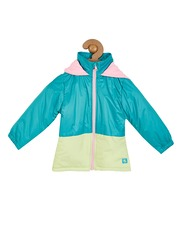 Cherry Crumble Girls Blue & White Colourblocked Puffer Jacket