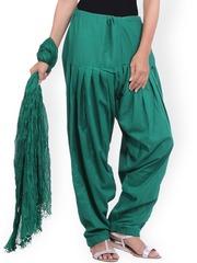 Jaipur Kurti Green Patiala Salwar & Dupatta Set