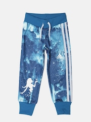 Adidas Disney Frozen Girls Blue Printed LK DYQ ELSA Track Pants