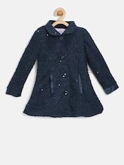 Peppermint Girls Navy Sequinned Coat