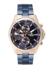 Daniel Klein Exclusive Men Navy Multifunction Dial Watch DK11128-3