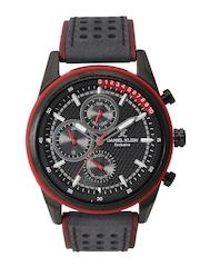 Daniel Klein Exclusive Men Gunmetal-Toned Multifunction Dial Watch DK11129-5