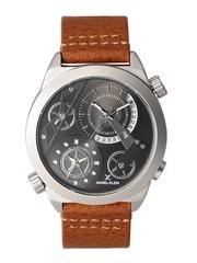 Daniel Klein Premium Men Gunmetal-Toned Dual-Dial Watch DK11130-4