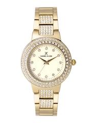 Daniel Klein Premium Women Gold-Toned Stone-Studded Dial Watch DK11189-4