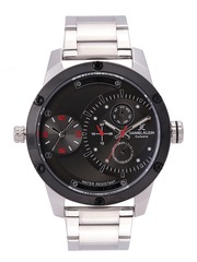 Daniel Klein Exclusive Men Gunmetal-Toned Dual-Time Dial Watch DK11198-3