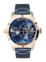 Daniel Klein Exclusive Men Blue Dual-Dial Multifunction Watch DK11198-6