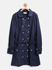 Peppermint Girls Navy Double-Breasted Pea Coat