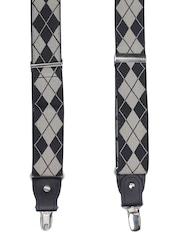 Alvaro Castagnino Men Black & Grey Patterned Suspenders