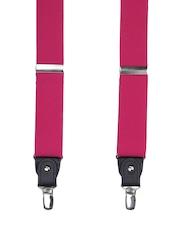 Alvaro Castagnino Men Magenta Suspenders
