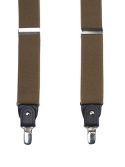 Alvaro Castagnino Men Olive Green Suspenders