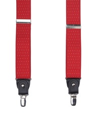 Alvaro Castagnino Men Red Patterned Suspenders