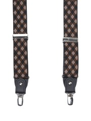 Alvaro Castagnino Men Brown & Black Patterned Suspenders