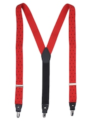 Alvaro Castagnino Red Patterned Suspenders