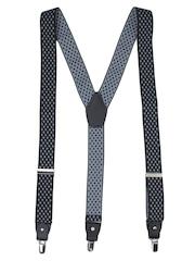 Alvaro Castagnino Black & Grey Patterned Suspenders