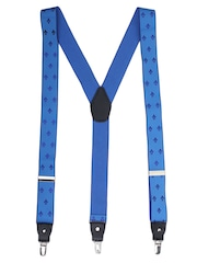 Alvaro Castagnino Blue Embroidered Suspenders