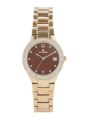 Dsigner Women Brown Dial Embellished Watch 721GM.9.L