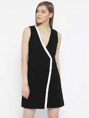 Vero Moda Women Black Solid Layered Dress