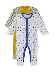 FS Mini Klub Infant Boys Pack of 2 Sleepsuits