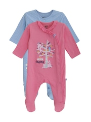 FS Mini Klub Infant Girls Pack of 2 Sleepsuits