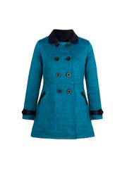 naughty ninos Girls Teal Blue Coat