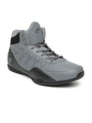 Boltio Men Grey & Black Colourblocked Basketball Shoes