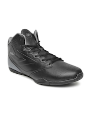 Boltio Men Black & Grey Colourblocked Basketball Shoes