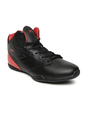 Boltio Men Black & Red Colourblocked Basketball Shoes