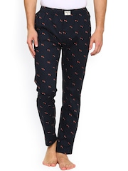 Urban Dog Navy Printed Slim Fit Pyjamas