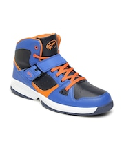 Boltio Men Blue & Black Colourblocked Basketball Shoes