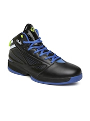 Boltio Men Black Mid-Top Basketball Shoes