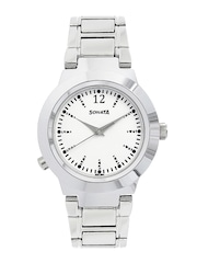 Sonata Women White Analogue Watch 90057sm01