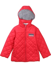 Beebay Boys Red Hooded Quilted Jacket